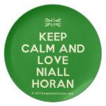 [UK Flag] keep calm and love niall horan  Plates