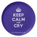 [Crown] keep calm and cry  Plates