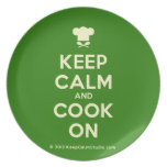 [Chef hat] keep calm and cook on  Plates