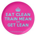 [Crown] eat clean train mean and get lean  Plates