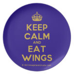 [Crown] keep calm and eat wings  Plates