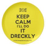 [UK Flag] keep calm i'll do it dreckly  Plates