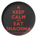 [Campfire] keep calm and eat shaorma  Plates