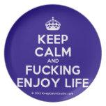[Crown] keep calm and fucking enjoy life  Plates