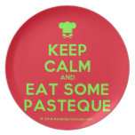 [Chef hat] keep calm and eat some pasteque  Plates