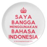 [Crown] saya bangga menggunakan bahasa indonesia  Plates