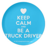 [Love heart] keep calm and be a truck driver  Plates