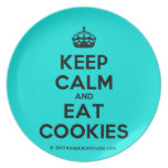 [Crown] keep calm and eat cookies  Plates