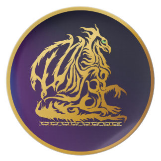 Plates Gold Dragon 1