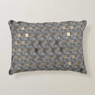 Plates grey on brown fund clearly, black tones accent pillow
