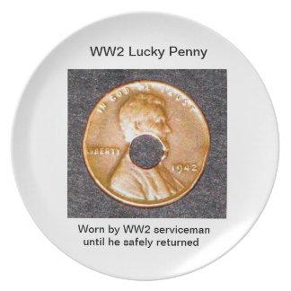 Plates/ WW2 Lucky Penny Dinner Plate