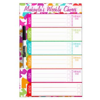 Platform MaryJane - Schedule / Chores / To-Do List Dry-Erase Board