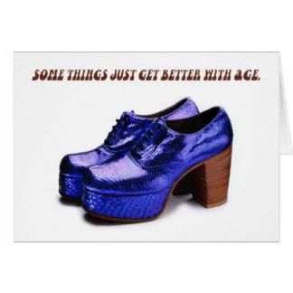 Platform Shoes Birthday Card