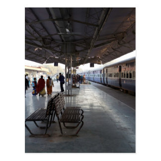 Platforms 2 and 3 of the Jodhpur train station Post Card