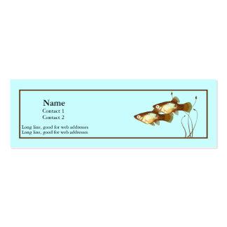 Platies en tarjeta azul del perfil plantilla de tarjeta de visita