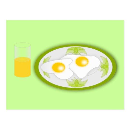 platillo_Vector_Clipart breakfast eggs orangejuice Postcard
