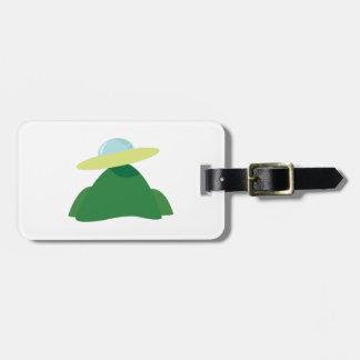 Platillo volante etiqueta para maleta