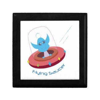 Platillo volante joyero cuadrado pequeño