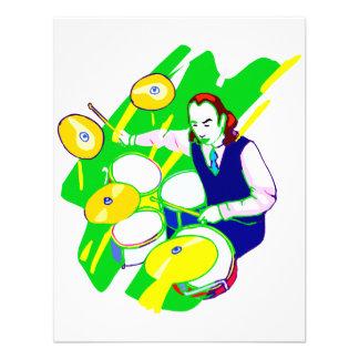 Platillos amarillos del chaleco del batería que ll invitación personalizada