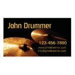 platillos, batería de Juan, www.johndrummer.cominf Tarjetas De Visita