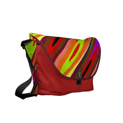 Platillos coloreados bolsa de mensajería