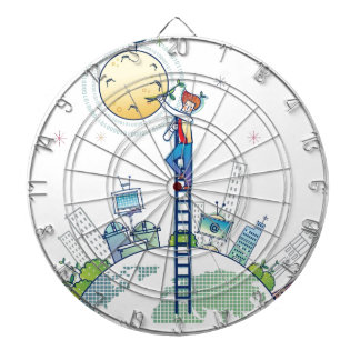 Plating on the moon Funny Photo Earth Ladder Dart Board