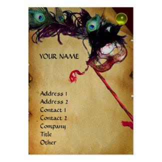 Platino de la gema del damasco del pergamino del tarjetas de visita grandes