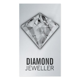 Platino del diamante de las tarjetas de visita de