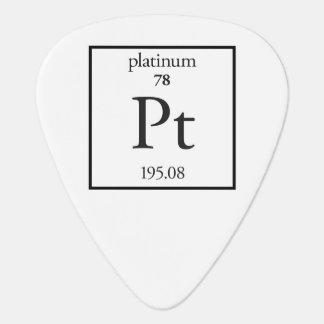 Platino Plumilla De Guitarra