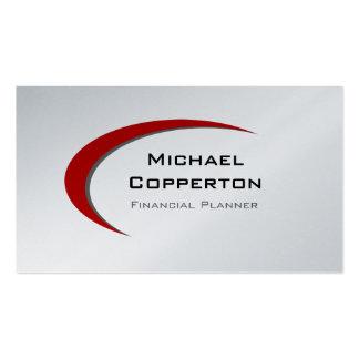 Platino rojo profesional de la curva de la tarjeta tarjetas de visita