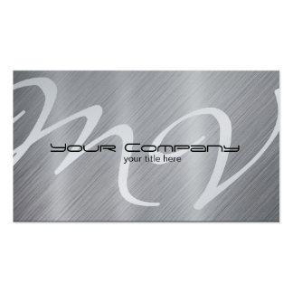 Platino/tarjetas de visita de aluminio de la