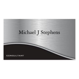 Platino texturizado negro profesional moderno tarjetas de visita