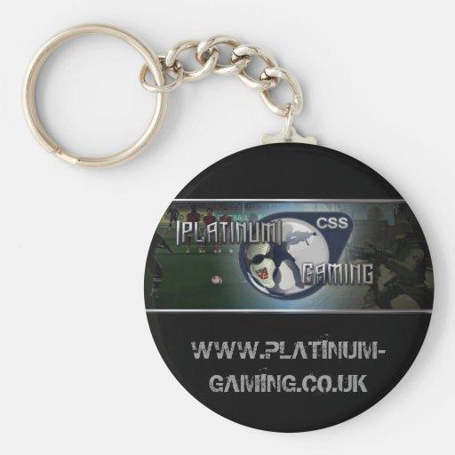 platino, WWW.PLATINUM-GAMING.CO.UK Llavero Redondo Tipo Pin
