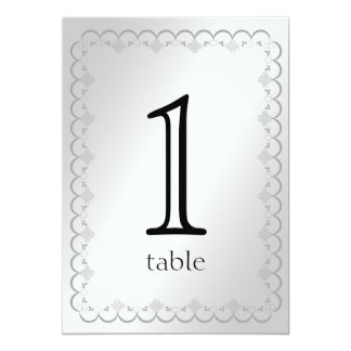 Platinum 20th Anniversary Table Number
