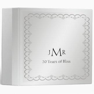 Platinum 20th Wedding Anniversary Binder