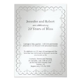Platinum 20th Wedding Anniversary Invitation