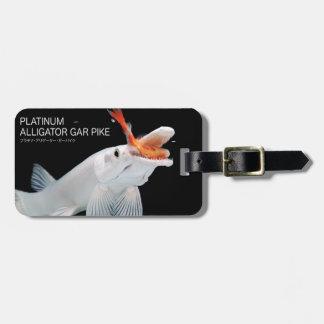 Platinum Alligator Gar Pike Bag Tag