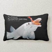 Platinum Alligator Gar Pike Lumbar Pillow