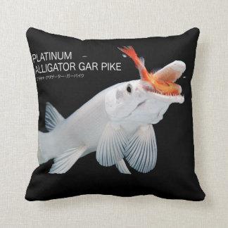 Platinum Alligator Gar Pike Pillow