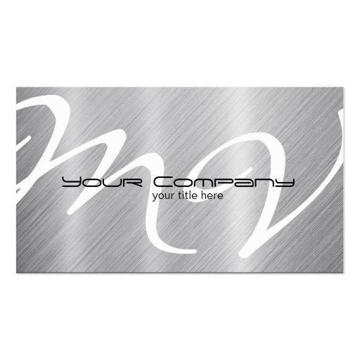 Platinum / Aluminum Business Cards