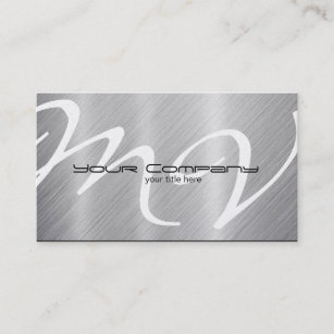 Aluminum business cards templates zazzle platinum aluminum look business cards reheart Images