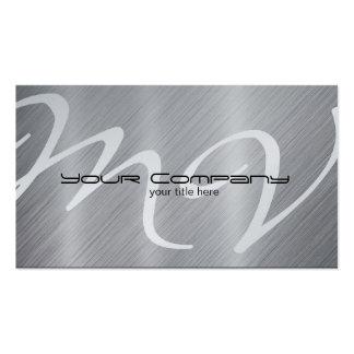 Platinum / Aluminum 'look' Business Cards