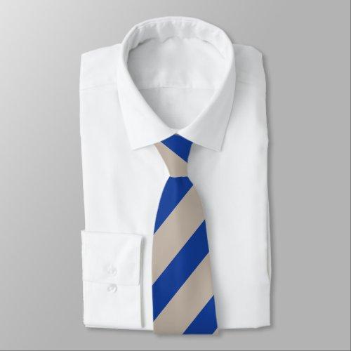 Platinum and Blue Diagonally-Striped Tie