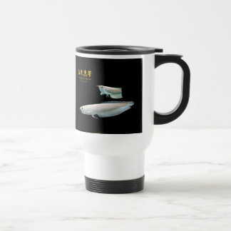 Platinum Black Arowana Travel Mug
