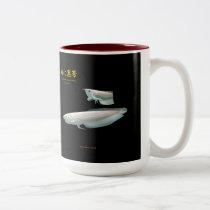 Platinum Black Arowana Two-Tone Coffee Mug
