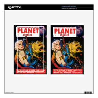 Platinum Blonde and her Monster Friend Decals For Kindle Fire