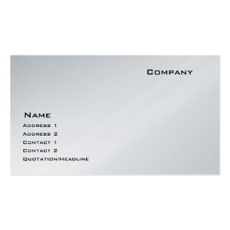 Platinum Double-Sided Standard Business Cards (Pack Of 100)