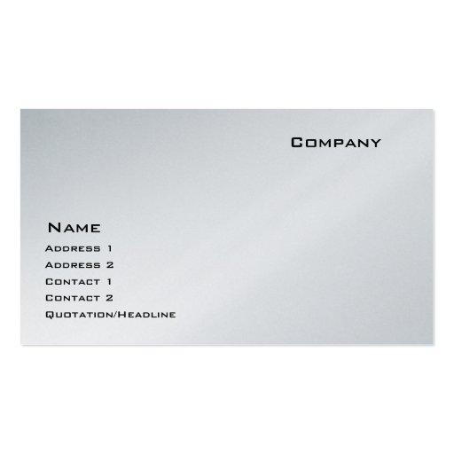 Platinum Business Card Template