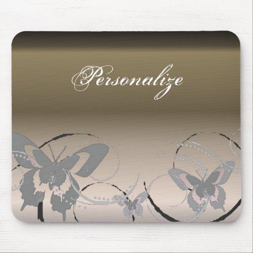 Platinum Butterfly Trio Mousepad