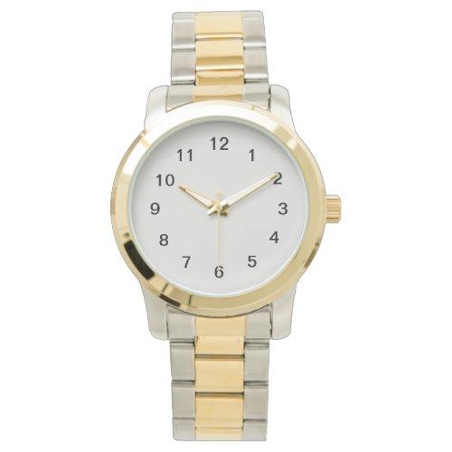 Platinum-Colored Watch
